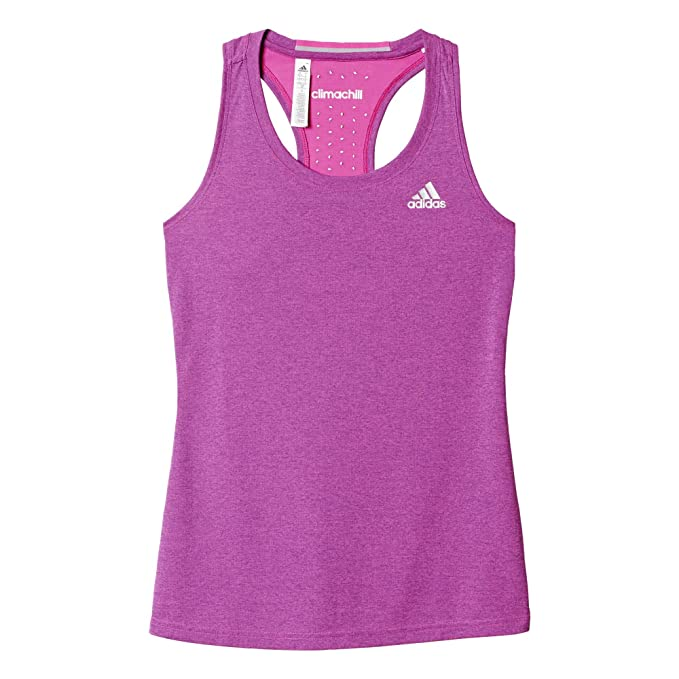 56b4936bed28 Abbigliamento donna Adidas Woman Purple Climachill Tank Top