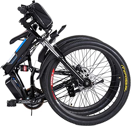 an example of how the kemmaner 26 inches electric bike looks when folded