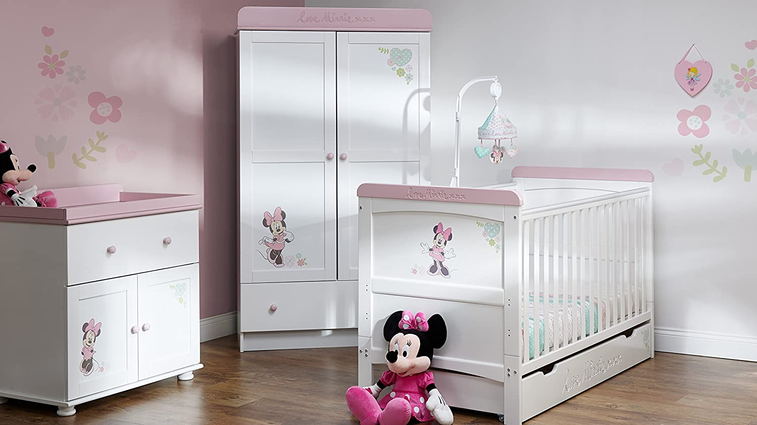 Disney Minnie Mouse 3 Möbel Kinderzimmer Set – Love Minnie günstig