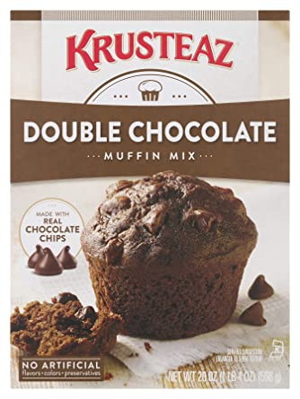 Krusteaz - Muffin doble de chocolate supremo, 20 oz (paquete ...