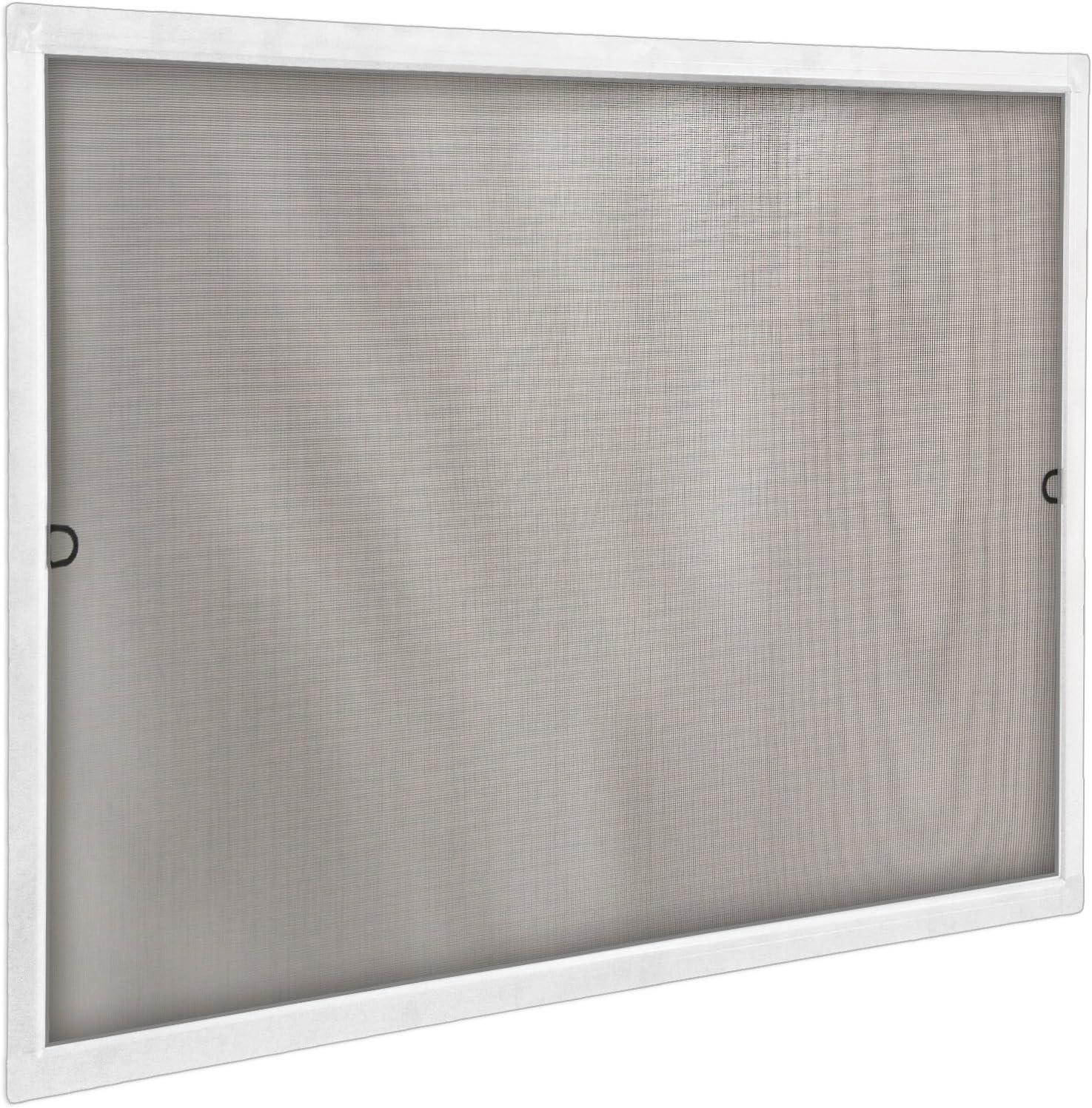 JAROLIFT Insektenschutz Spannrahmen Profi Line f/ür Fenster ohne Bohren montierbar Rahmengr/ö/ße 60cm x 150cm silber