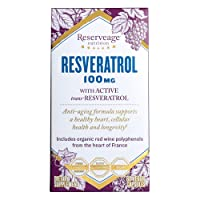 Reserveage, Resveratrol 100 mg Antioxidant Supplement for Heart and Cellular Health...
