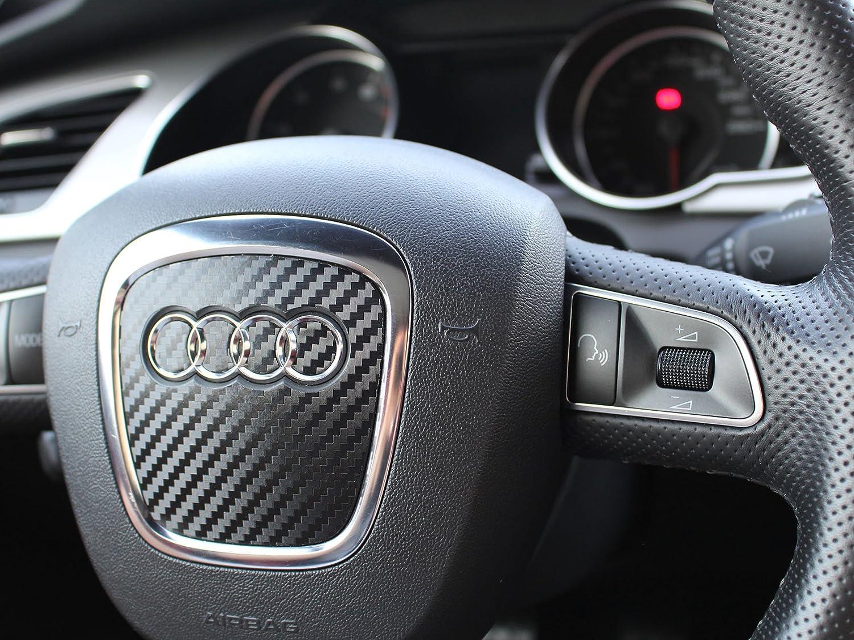 L/ámin decorativa para volante A4 para Audi A3 Q7 y S4 A5 A6 carbono Q6 A7 S5 B8 Finest-Folia UG A8
