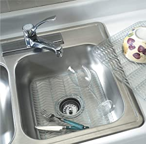 """Rubbermaid Sink Protector with built-in Microban Antimicrobial (Baby Blue/Clear) 12.48"""" x 11.48"""" x 0.39""""(2-Pack)"""