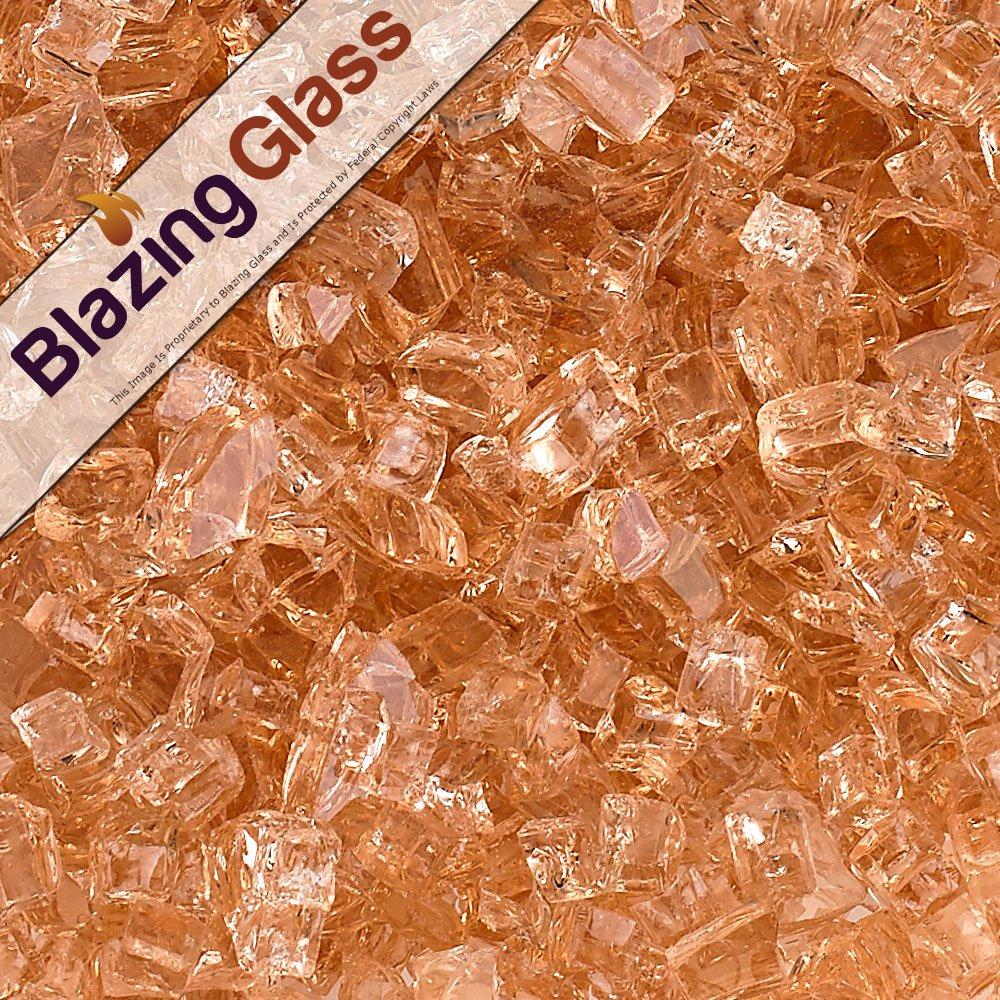 Blazing Fireglass 10-Pound Fire Glass with Fireplace Glass and Fire Pit Glass, 1/4-Inch, Cobalt Blue