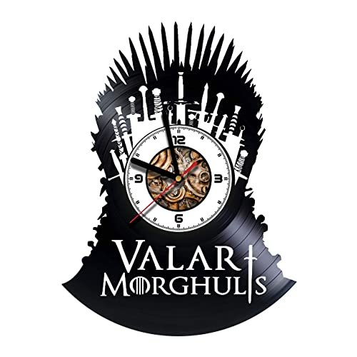 Amazon Com Game Of Thrones Tv Series Handmade Vinyl Wall Clock Get Unique Gifts Presents For Birthday Christmas Anniversary Gift Ideas For Boys Girls Women Adults Him And Her