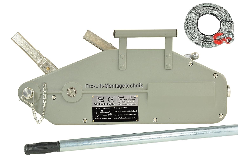Pro-Lift-Montagetechnik 1600kg Seilwinde, Forstseilwinde, mit 20m ...
