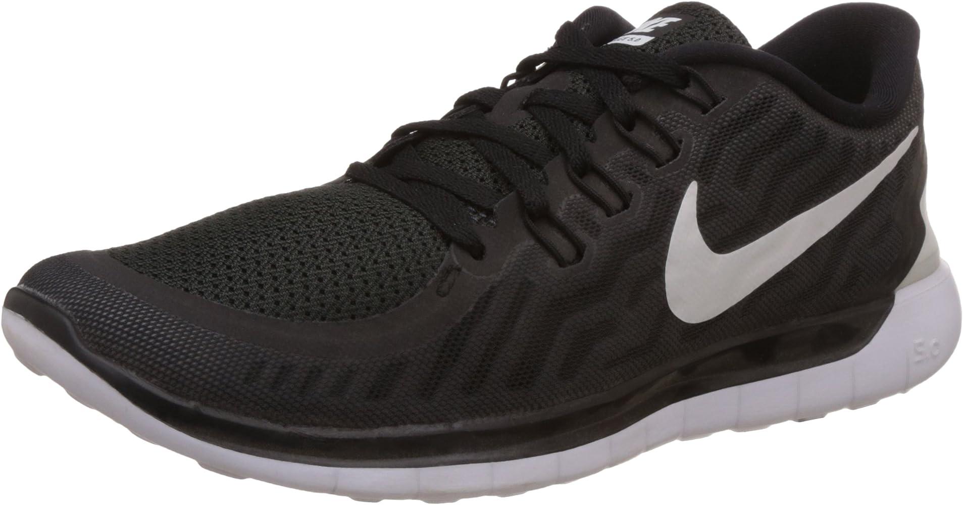 Nike Herren Free 5.0 Laufschuhe Schwarz/Dunkles Kühles Grau/Weiß 002 ...