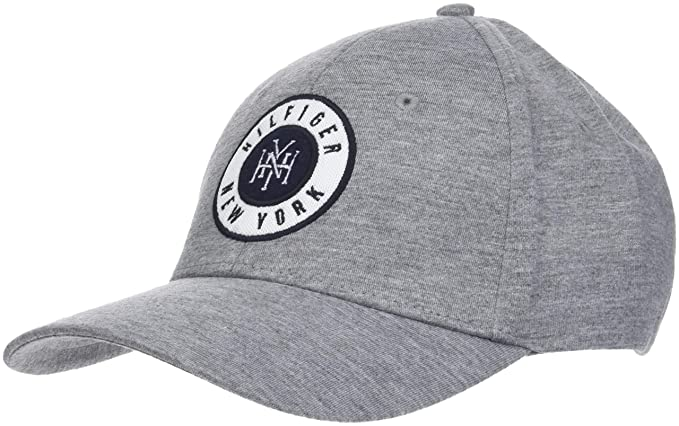 39d3811c Tommy Hilfiger Badge Logo Mens Cap Grey at Amazon Men's Clothing store: