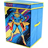 Superman PrettyKrafts Synthetic Superman Storage Box (Blue, Large)