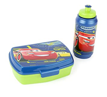 Joy Toy 782673 – Cars Set de 3 Sport Botella y Fiambrera en Paquete de Regalo