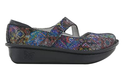 Alegria Dayna Special Mary Jane Black White Multi Color Leather 40 Women 9 M Women's Shoes Clothing, Shoes & Accessories