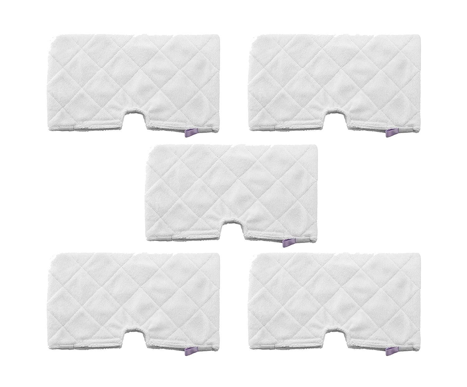 EZCARRIER Washable Steam Mop Pads Replacement for Shark Steam Pocket S3501 S3601D S3550 S3801 S3901 S4601 SE450 S4701 S4701D (Pack of 5)