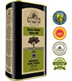 Ellora Farms | Certified PDO Extra Virgin Olive Oil | Single Variety Olives | Cold Extracted & Traceable Olive Oil | Born in Ancient Crete, Greece | Kosher | 1 Lt Tin, total 33.8 oz.