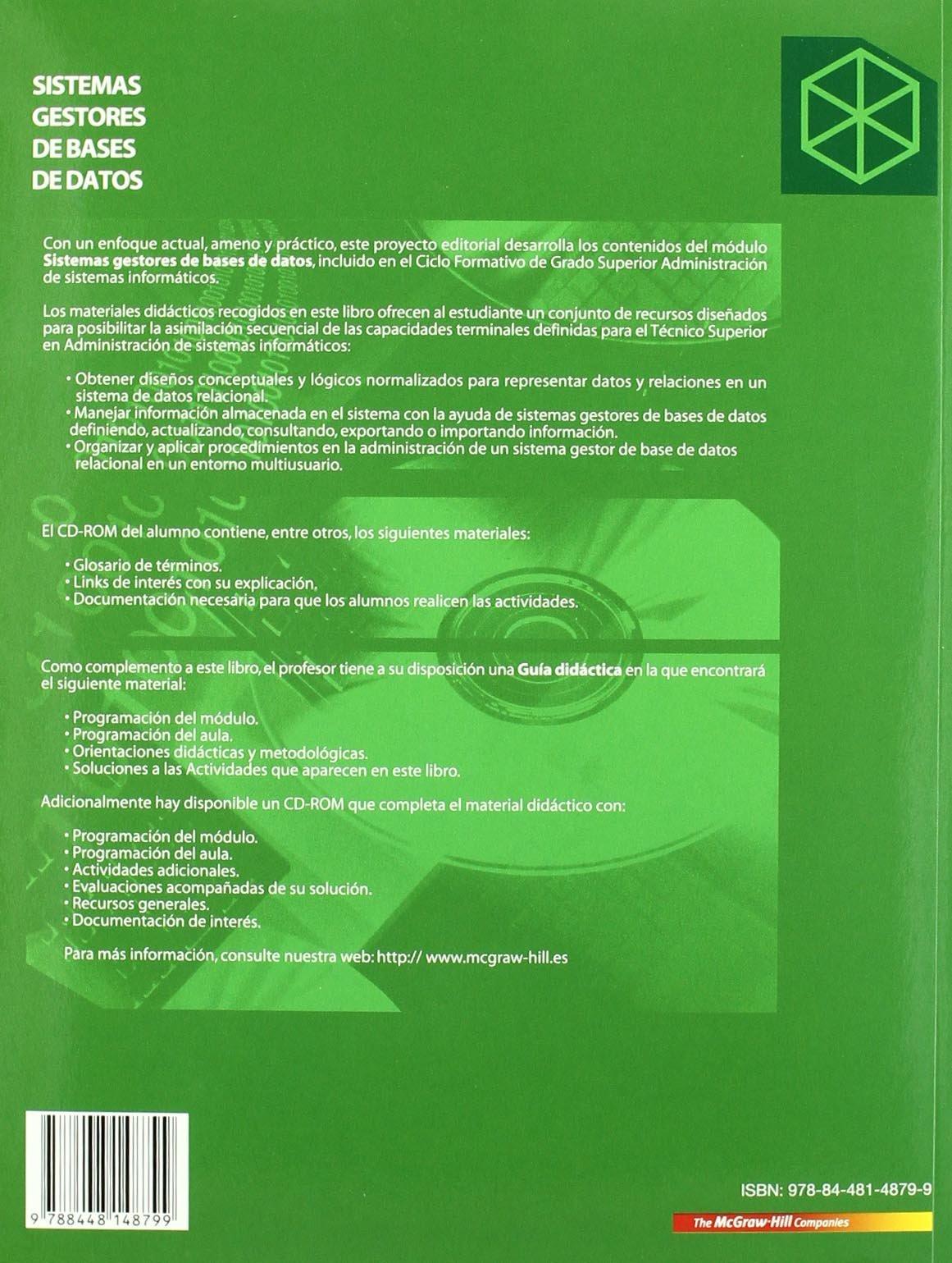 Sistemas Gestores De Bases De Datos Grado Superior Amazon Es Ramos Martin M Libros