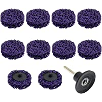 Furcoitur 10Pcs 2Inch Quick Strip Discs Easy Change Strip Discs Clean with Roloc Disc Pad Holder Remove Paint Rust and…