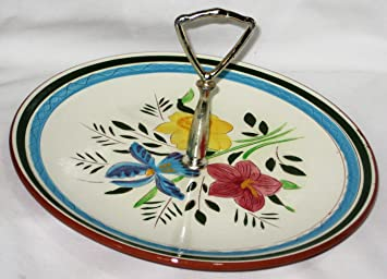 Vintage Stangl Pottery Country Garden 10 Inch Tidbit Tray Serving Plate w/ Handle  sc 1 st  Amazon.com & Amazon.com: Vintage Stangl Pottery Country Garden 10 Inch Tidbit ...