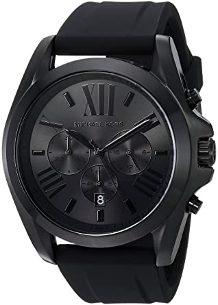 9bac75d32a10 Amazon.com  Michael Kors Men s Bradshaw Black Watch MK8560  Michael Kors   Watches