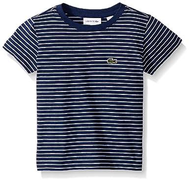 bf38cb3f1 Amazon.com: Lacoste Boy Short Sleeve Striped Tee Shirt: Clothing