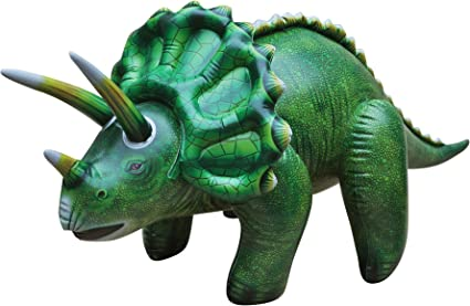Jet CreationsInflatable Triceratops dinosaur 43 inch long Birthday party toy fun