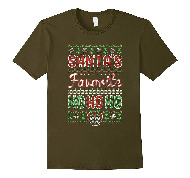 Santas Favorite Ho Ho Ho TShirt Funny Ugly Jumper Design-FL