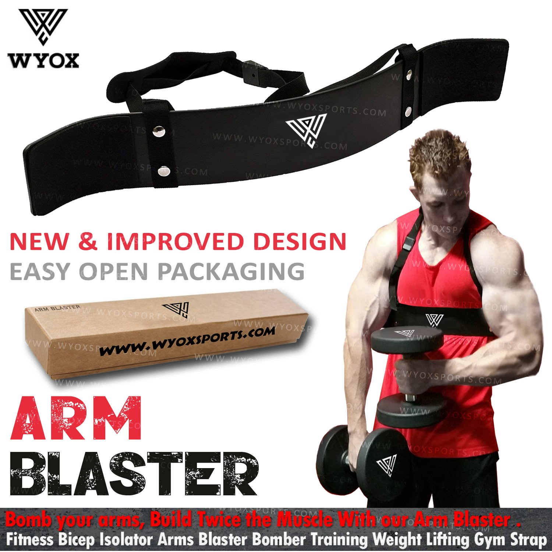 Wyox Heavy Duty Arm Blaster Isolator Body Building Bomber Bicep Curl Triceps