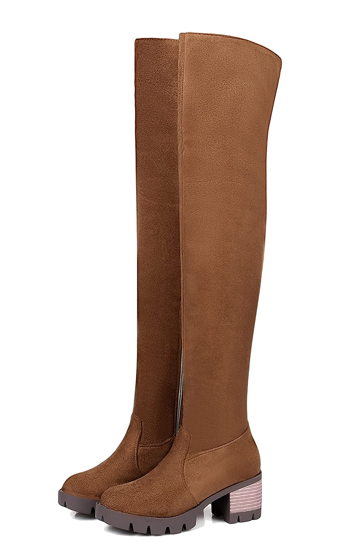 AgeeMi AgeeMi AgeeMi schuhe Damen Winter PU Langschaft Schnüren Rund Schließen Zehe Stiefel 252154