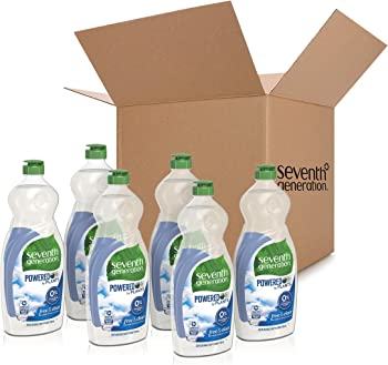 6-Pack Seventh Generation 25oz. Free & Clear Dish Liquid Soap