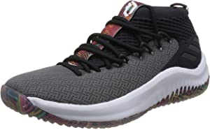 the best attitude 587a4 78121 adidas Men's Dame 4 Fitness Shoes, Footwear White/Core Black/Scarle ...