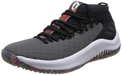new style 86fc0 44796 adidas Dame 4, Chaussures de Basketball Homme, Noir CblackFtwwhtGrefiv,