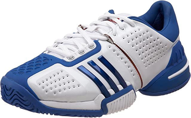 Amazon.com | adidas Men's Barricade, White/Blue Beauty/Blue Beauty ...