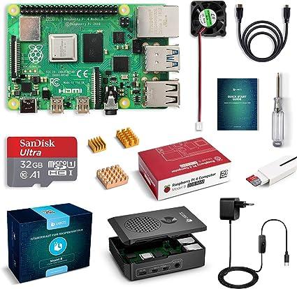 LABISTS Raspberry Pi 4 Model B Kit de 2 GB con SD de 32GB Clase 10 ...