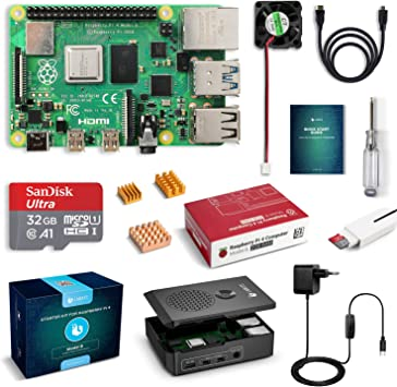 LABISTS Raspberry Pi 4 Model B Kit de 2 GB con SD de 32GB Clase 10 ...