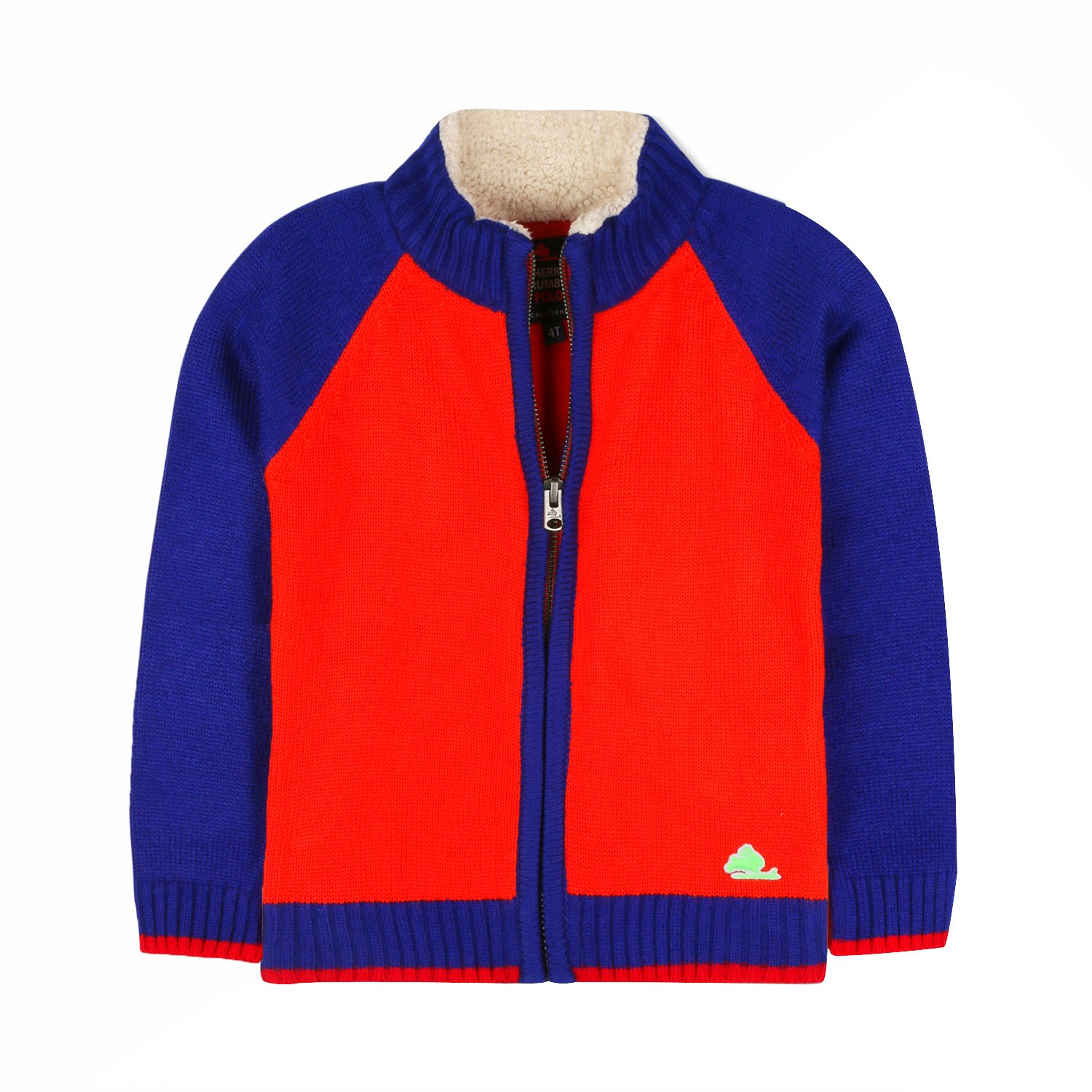 Cherry Crumble Sporty Zip-Down Sweater for Boys /& Girls