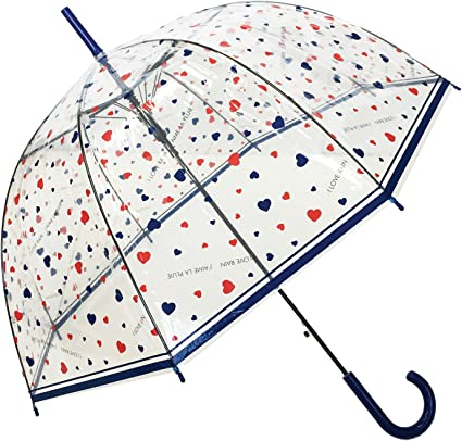 Auto Open SMATI Stick Umbrella dome transparent for Women and Kids Dog