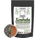 Kombucha Loose Leaf Black and Green Tea Blend, 120 Servings, Hand Blended 4-Ounces Keemun Black & 4-Ounces China Young Hyson Green Tea for Brewing Kombucha (8-Ounces Total)
