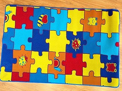 Tappeti Per Bambini Lavabili In Lavatrice : Tappeto gioco puzzle lavabile in lavatrice cameretta