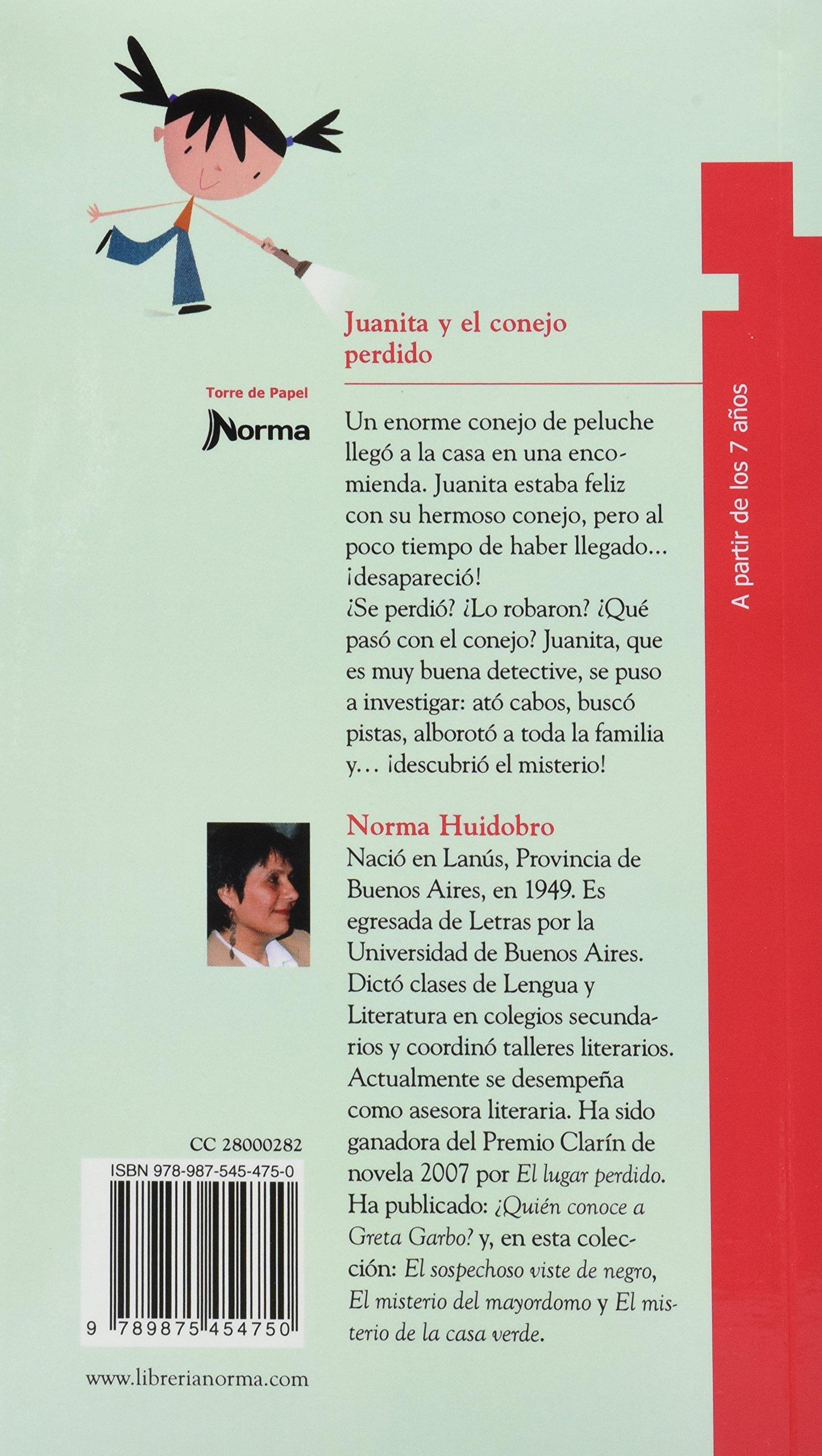 Juanita Y El Conejo Perdido: NORMA HUIDOBRO: 9789875454750: Amazon.com: Books