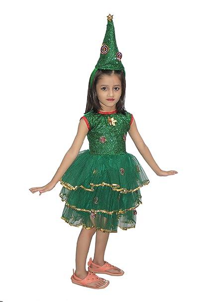 6f2fe6c63e4 Buy Kaku Fancy Dresses Christmas Tree Girl Costume -Green, 3-4 Years ...