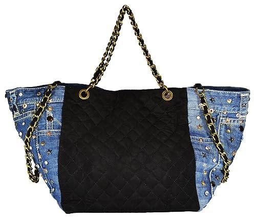 f7f7ec66c4 Millennium Star - Diamond denim black borsa da donna in pelle e ...