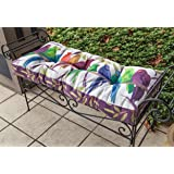 "Bench Cushions - ""Birds of a Feather"" Garden Bench Cushion - Indoor Outdoor Seat Cushion"