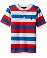 U.S. Polo Assn. Boys' Printed Slub Henley T-Shirt