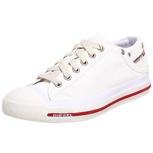 2b5ada1b432cf DIESEL Exposure Low, Sneakers Basses Femme, Blanc (White T1002), 40.5 EU