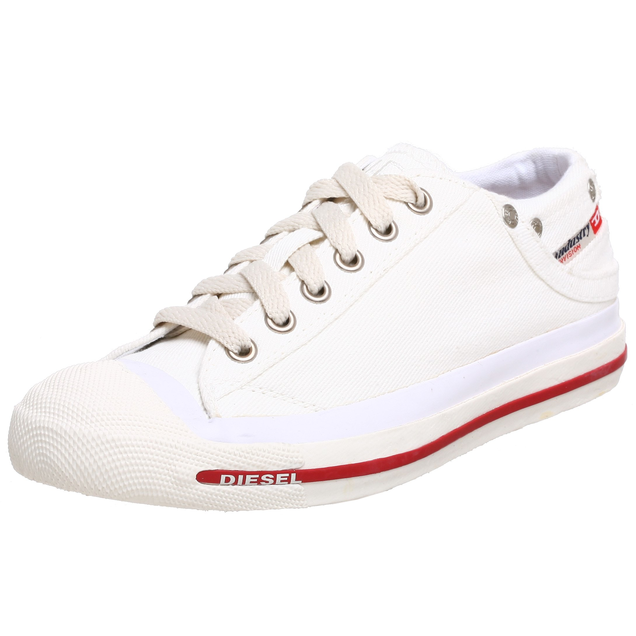 Diesel Women's Exposure Low Sneaker,Snow/White,9.5 M