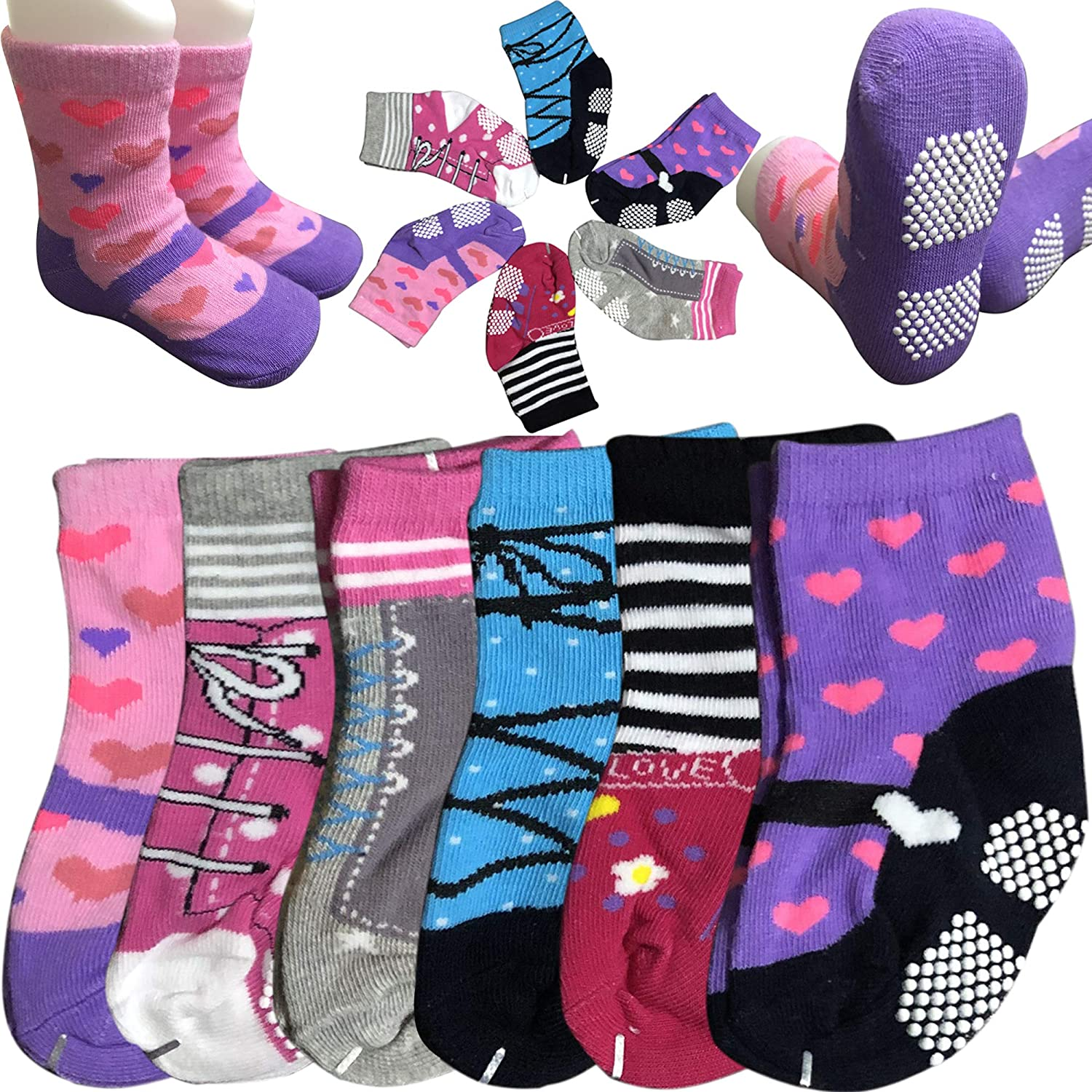 Trumpette Noodles Boys 12-24 Months Baby Toddler Non Skid Socks~4 Pairs