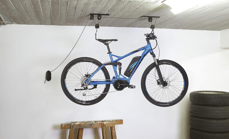 Fischer 50386 Soporte para Bicicleta, Negro, bis 30kg