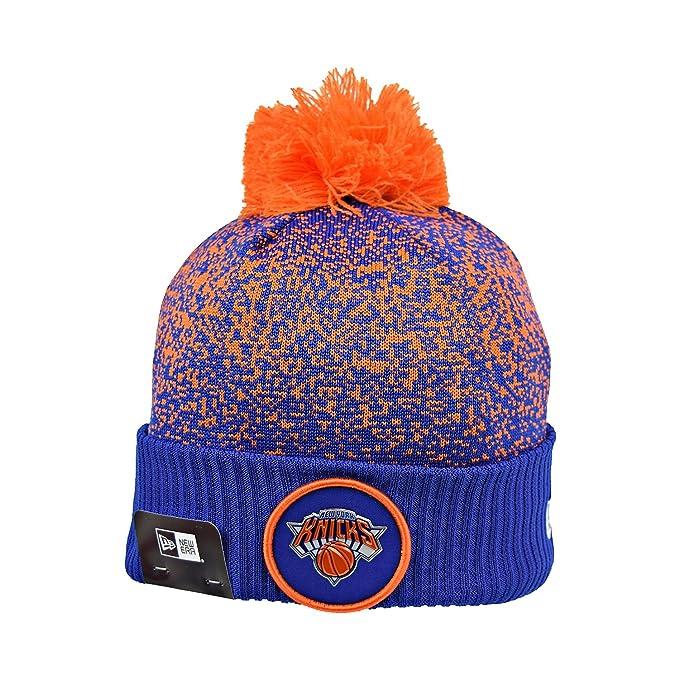 0f2de135ce0 Amazon.com  New Era New York Knicks NBA 17 Men s Knit Pom Beanie Hat ...