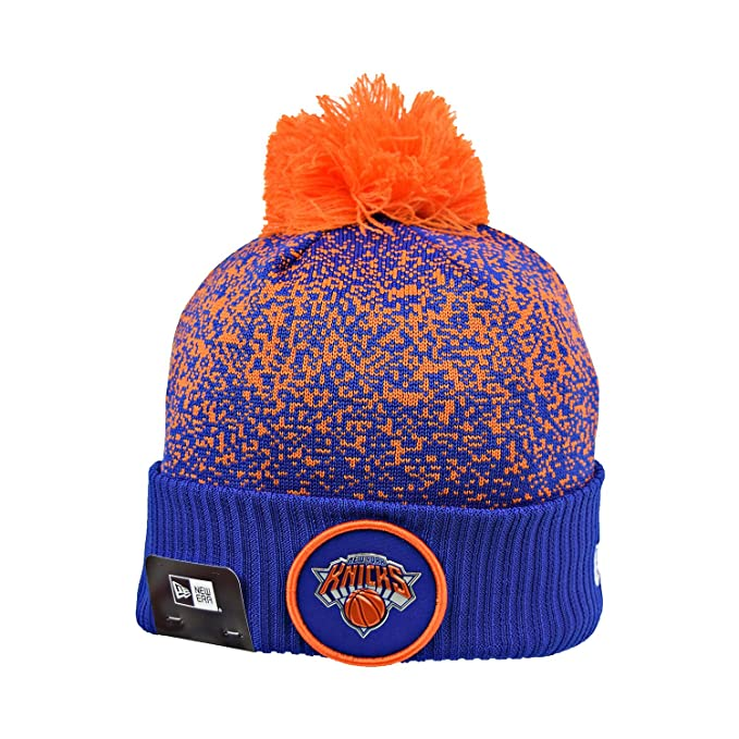 331f1f2c3e7352 New Era New York Knicks NBA 17 Men's Knit Pom Beanie Hat Cap Blue/Orange