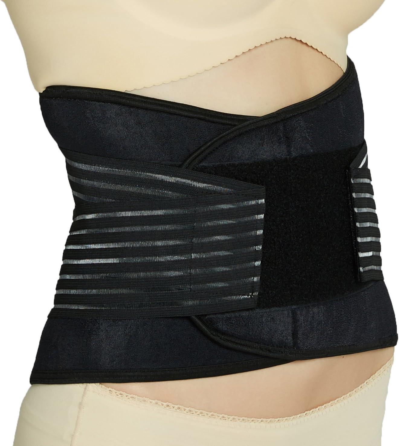nero supporto lombare con cinghie di compressione a doppia banda Tutore schiena in neoprene S Neotech Care