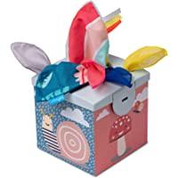 Taf Toys Sensorisk Wonder näsdukslåda för spädbarn och småbarn, färgglada draghalsdukar och koala daydream skrynkling…